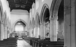 All Saints Church Interior c.1955, Houghton Regis