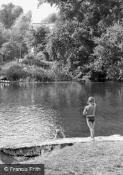 Splashing By The Mill c.1960, Houghton