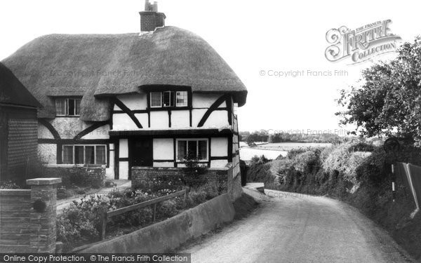 Photo of Houghton, Thatched Cottage c1965