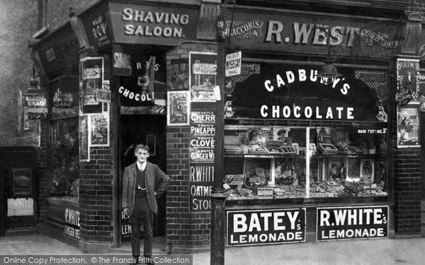 Photo of Hounslow, West's Shop, Hanworth Road 1910