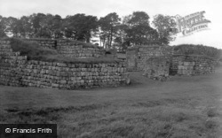 Roman Fort, West Gate 1954, Housesteads
