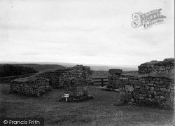 Housesteads, The West Gate, Roman Wall c.1955