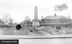 Hoyland, The Memorial c.1950