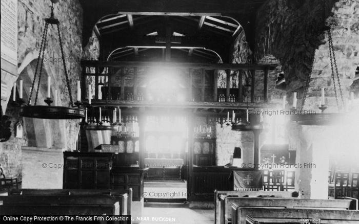 Photo of Hubberholme, Church Interior c.1960