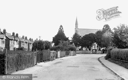 Hucclecote, Larkhay Road And Church Of St Philip And St James c.1955
