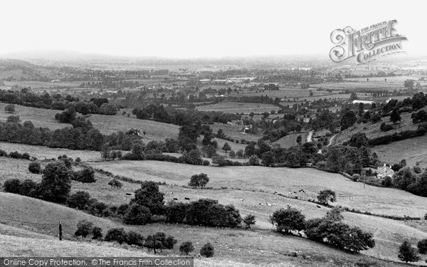 Hucclecote, view from Birdlip Hill c1960