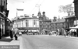 Huddersfield, Market Place 1957