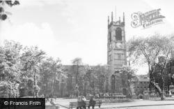 Huddersfield, Parish Church And St Peter's Gardens c.1960