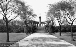 Huddersfield, The Memorial, Greenhead Park 1957