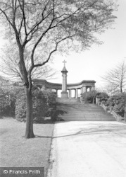 Huddersfield, The Memorial, Greenhead Park c.1960