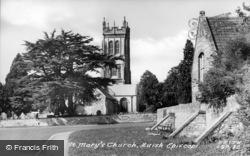 St Mary's Church c.1955, Huish Episcopi