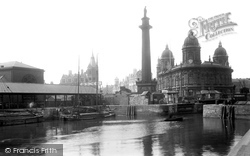 Hull, Dock Offices And Wilberforce Monument 1903, Kingston Upon Hull