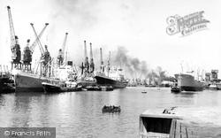 Hull, King George Dock c.1960, Kingston Upon Hull