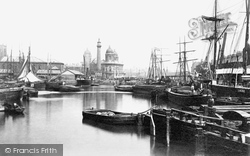 Hull, Prince's Dock c.1885, Kingston Upon Hull