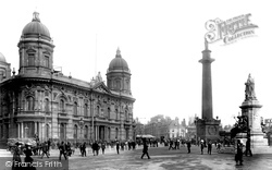 Hull, The Dock Offices And The Wilberforce Monument 1903, Kingston Upon Hull