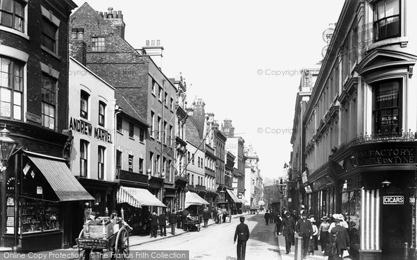 Photo of Hull, Whitefriargate 1903
