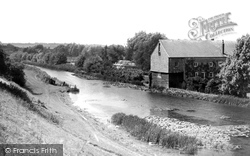 Kennet And Avon Canal And Dunn Mill c.1955, Hungerford