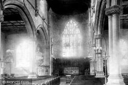 Parish Church Interior 1903, Hungerford