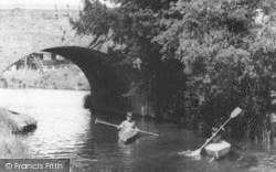 Hungerford, The Canal, Boys Kayaking c.1960