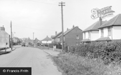 Hunmanby, Station Road c.1955