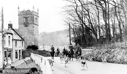Hunmanby, The Hunt And Church Hill c.1960
