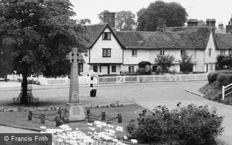 Hunsdon, the War Memorial c1960