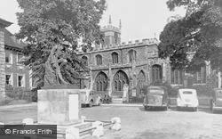 All Saints Church And War Memorial c.1955, Huntingdon