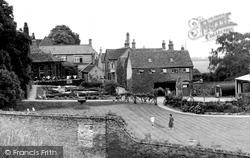 Huntingdon, Bridge Hotel From Castle Hill c.1955