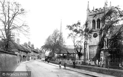 High Street And St Mary's Church 1906, Huntingdon