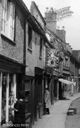 Huntingdon, Singer Shop, High Street 1929