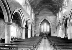 Huntingdon, St Mary's Church Interior 1898