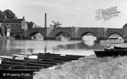 Huntingdon, The Bridge And River c.1955
