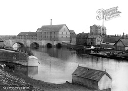 Huntingdon, The Bridge From Castle Hill 1898