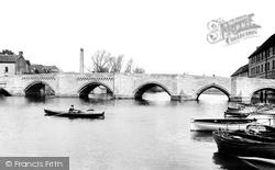 Huntingdon, The Old Bridge 1898