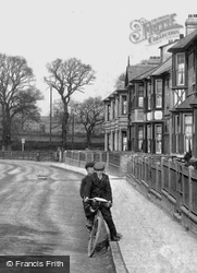 Two On A Bicycle 1906, Huntingdon