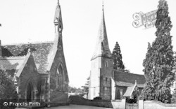 Huntley, Church Of St John The Baptist And School c.1955