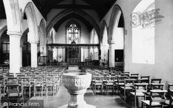 St John's Church, The Interior c.1960, Hurst Green