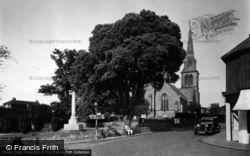 Hurstpierpoint, Holy Trinity Church And War Memorial c.1955