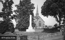 Hurstpierpoint, Holy Trinity Church And War Memorial c.1955