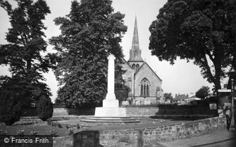 Hurstpierpoint, Holy Trinity Church and War Memorial c1955