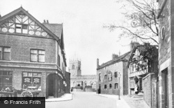 Huyton, Derby Road And St Michael's Church c.1910