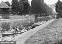 Hythe, Boating On The Canal c.1955