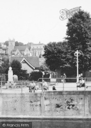 Hythe, Church From The Canal c.1955