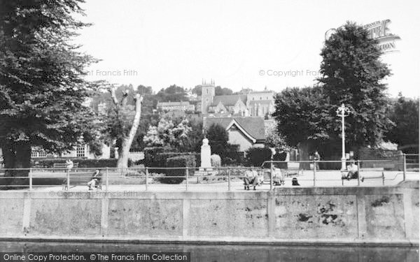 Photo of Hythe, General View From The Canal c.1955