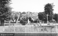 Hythe, General View From The Canal c.1955