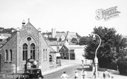 Hythe, The Church From Bailey Bridge c.1955