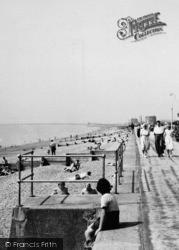 Hythe, The Promenade And Beach c.1955
