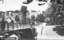 Hythe, View From The Canal c.1945