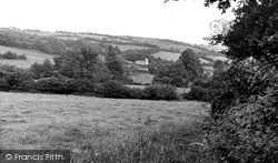 Ibberton, A Distant View Of The Church c.1955