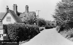 Ickham, School Lane c.1955